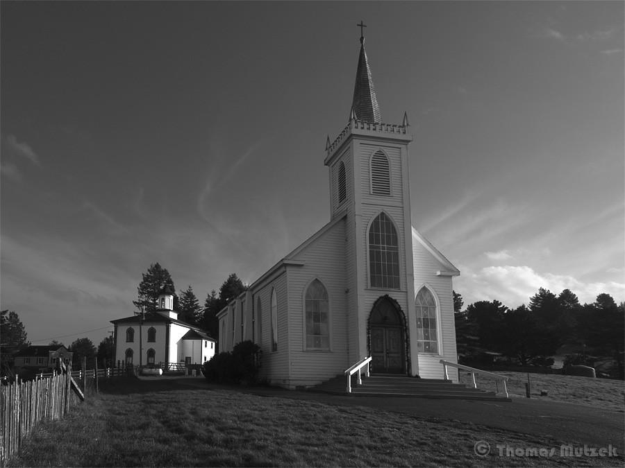 Saint Theresa of Avila and Potter Schoolhouse, Bodega, Sonoma, California, December 2010