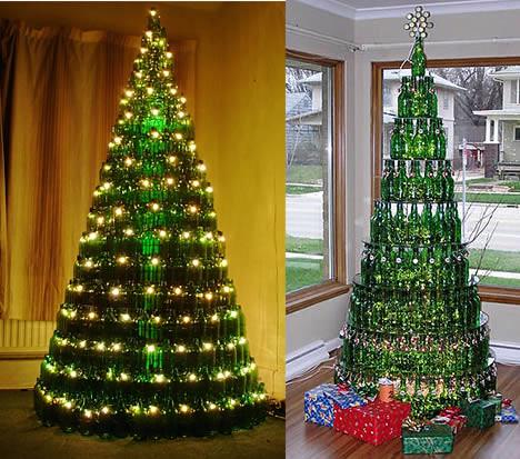 arbol de navidad botellas