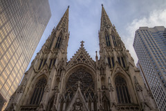 Saint Patrick's Cathedral (Phoenix Rising Photography) Tags: nyc newyorkcity newyork church canon aperture cathedral manhattan 7d hdr saintpatrickscathedral efs1022mm photomatix niksoftware