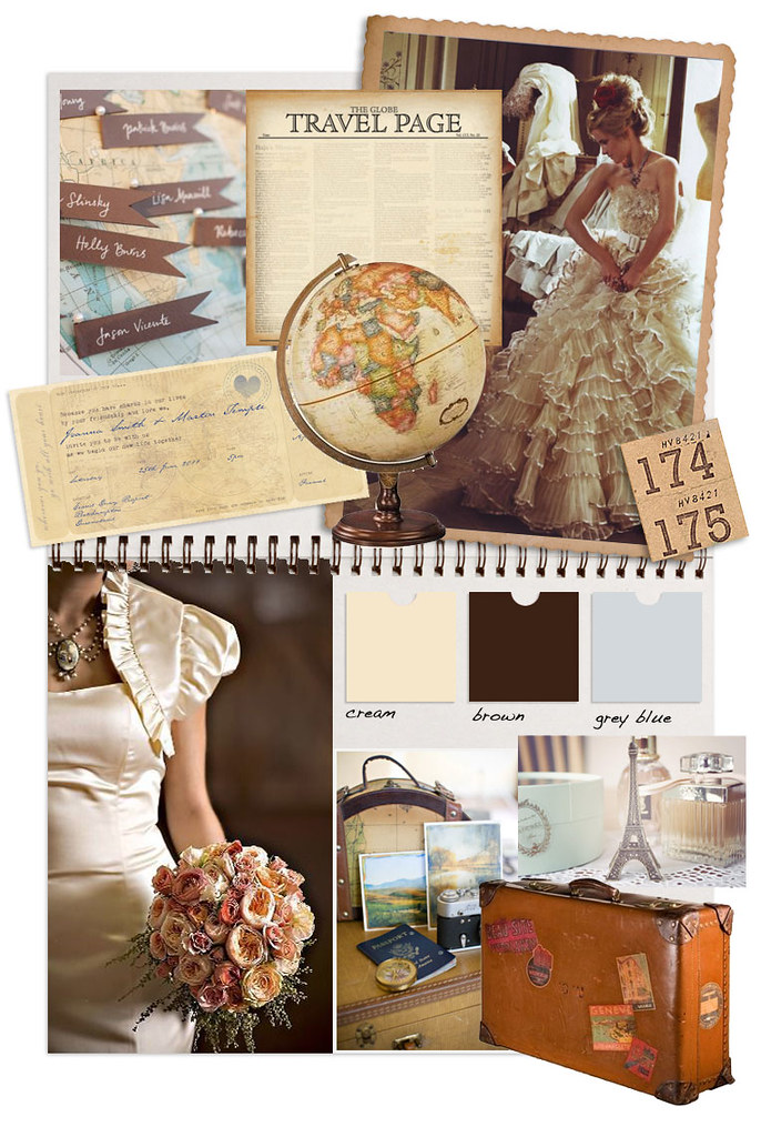 vintage travel mood board