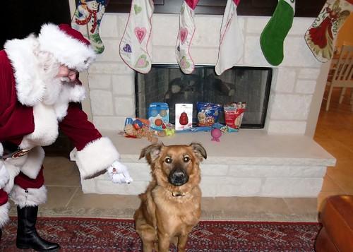 Santa can't get Matti to flinch