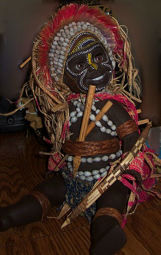 African Warrior Doll