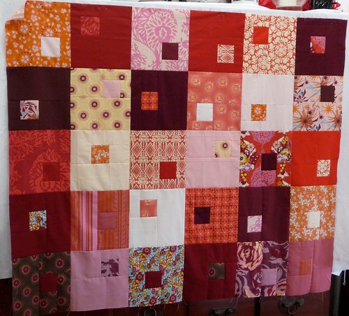 Spice Boxes quilt top