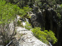 The top of the falls in Paddy's Ck (flashmick) Tags: mountain water waterfall bush walk maroon may queensland plain paddys