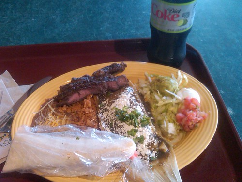 Tamale and Carne Asada at Rancho del Zocalo