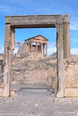 Dougga/Thugga (ccr_358) Tags: africa door temple town ruins mediterranean roman northafrica tunisia tunis unesco maghreb romanruins تونس dougga romantown thugga tunisianrepublic ccr358