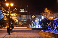 1st December Park Oradea (usabin) Tags: park christmas new people snow church beautiful bulb architecture night lights nikon december nightshot cathedral 1st joy decoration dec romania orthodox transilvania 2010 sabin oradea roumania bihor nagyvrad usabin transylvaniaoradea gettyromania1