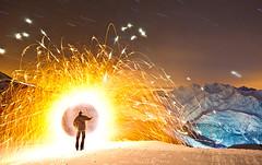 Stargate on 3200m (David Bumann Photography) Tags: light art nature zeiss photography switzerland swiss performance ze saas carlzeiss lapp lichtkunst hohsaas lightartperformancephotography t3518 swisslapp