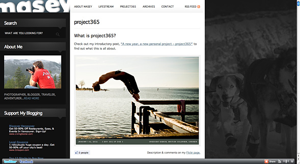My project365 blog page