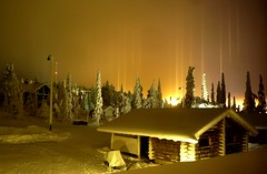 Light Pillars (timo_w2s) Tags: winter snow finland lapland kuusamo ruka lightpillars