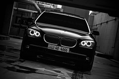 750Li (Talal Al-Mtn) Tags: light red orange white black car canon silver eos rebel cool automobile power shot d 5 garage gear automotive automatic bmw series m3 rims 450 2009 m5 v8 v10 545 xsi q8 somke 450d lm10 inkuwait bmwseries5 talalalmtn  bytalalalmtn