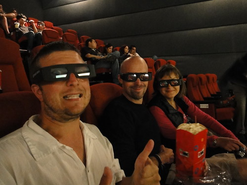 Dusty, Arlo and Oksana at Tron 3D