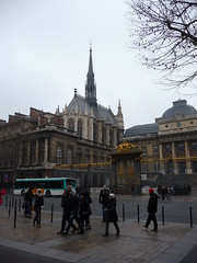 A very grey day in Paris (colourme) Tags: street city holiday paris france church gold grey gate december day centre scene 2010 2011