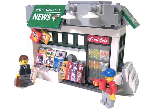 Custom minifig Lego Newsstand