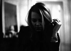 (Benjamin Skanke) Tags: portrait bw woman white black mamiya film girl dark 645 pro medium format 28 done 120mm 80mm sekor 800z