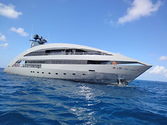 ocean pearl (dick_pountain) Tags: sea normanfoster grenadines motoryacht mustique oceanpearl