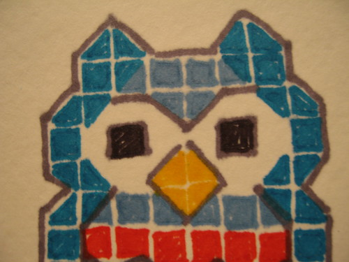 Owl Squared Close Up