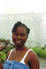 Tonic in her white bra Horse Shoe Falls Victoria Falls or Mosi-oa-Tunya is a Waterfall in Southern Africa on the Zambezi River at the border of Zambia and Zimbabwe Feb 8 1999 003 (photographer695) Tags: horse shoe falls tonic her white bra victoria or mosioatunya is waterfall southern africa zambezi river border zambia zimbabwe feb 8 1999