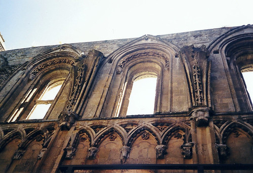 Glastonbury Abbey Detail - Copyright R.Weal 1998