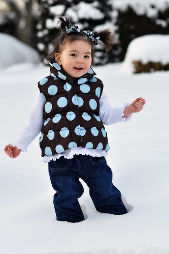 Alexis in the snow
