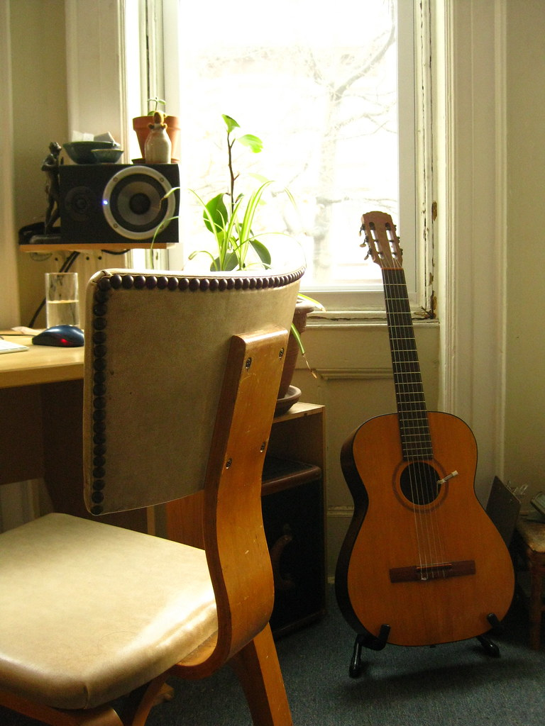 guitar & chair