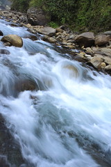 (Sourav_Khanra) Tags: blue winter india water rock canon river landscape eos slow hill falls incredible bengal 50d doars