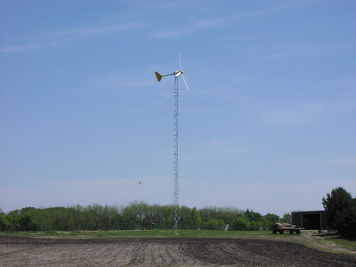 This wind turbine has been installed at a Nebraska stable with USDA funding assistance and is substantially reducing the cost of power purchases for the business.