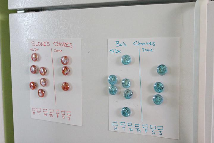 finished chore charts