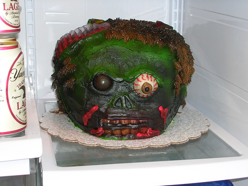 Zombie Cake in the Fridge