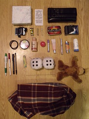 Wtf edition. (vivacious/confetti) Tags: camera dice bag ipod random wallet your gift lip gloss