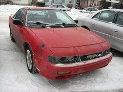 1993 Asüna Sunfire (dave_7) Tags: red car canadian 1993 sunfire asuna asüna