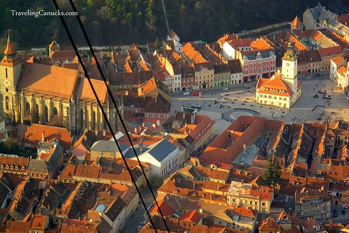 View of Brasov from mountain tram