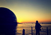 the soothing sight (y2-hiro) Tags: sunset sea sky sun sunlight reflection silhouette japan nikon osaka 2470mm d3s