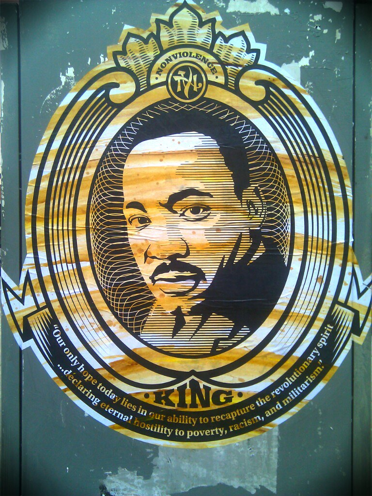 MLK Posters @ Busboys + Poets on 14th + V St. NW DC