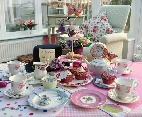 Mad Tea Party Vintage Mixed Tea Set