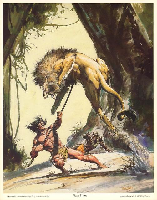 Neal Adams 1978 Portfolio Tarzan 4