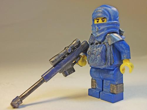Custom minifig Covert Blue