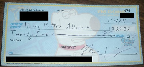 HPA Donation Check