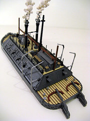 USS Cairo- Smoke test (M.R. Yoder) Tags: toy boat ship lego wip hobby steam plastic cairo smokestack uss moc ironclad