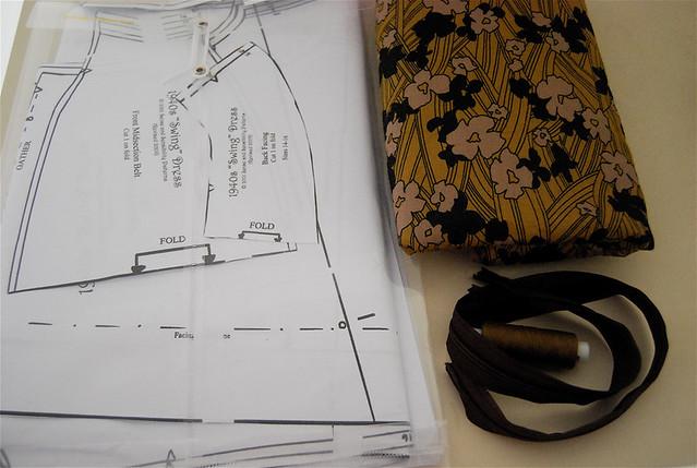 swing dress materials