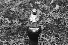 . (Ansel Olson) Tags: life film beer grass leaves virginia high nikon champagne pipe grain delta mini richmond miller va micro f3 nikkor friday 3200 ilford shorty 50mmf14 rva