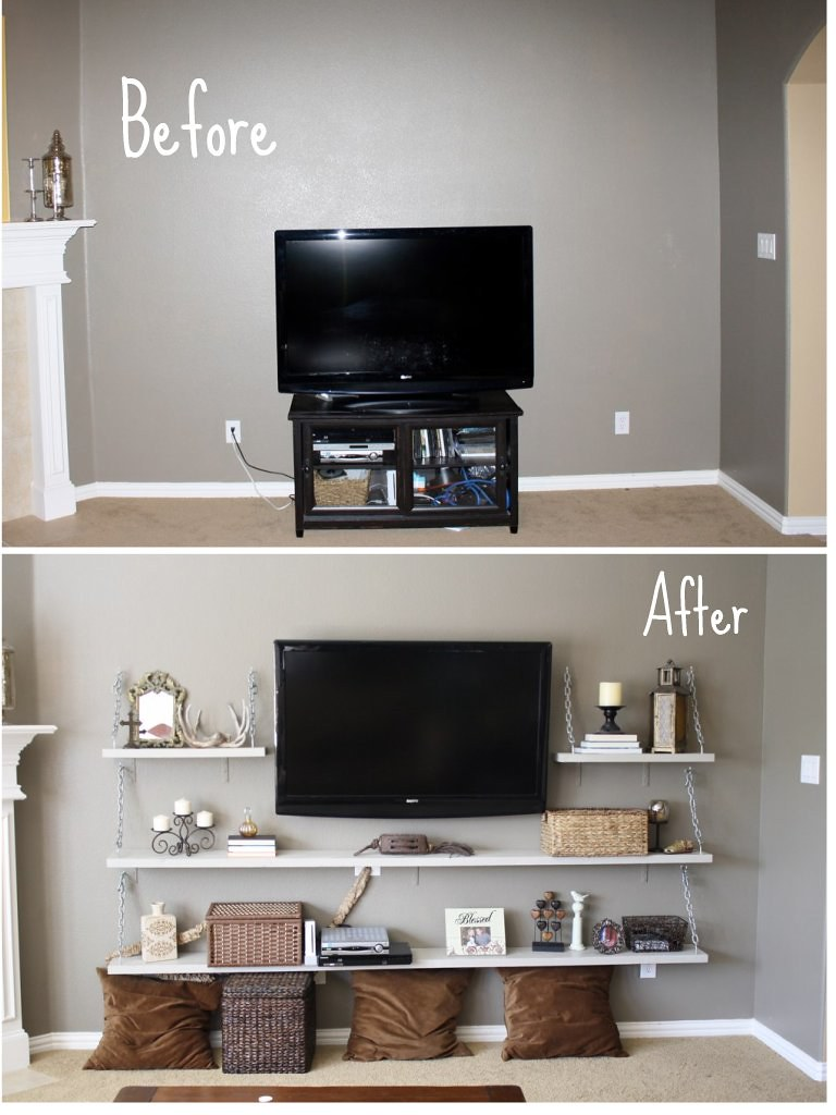 TV Shelves Ideas Living Room