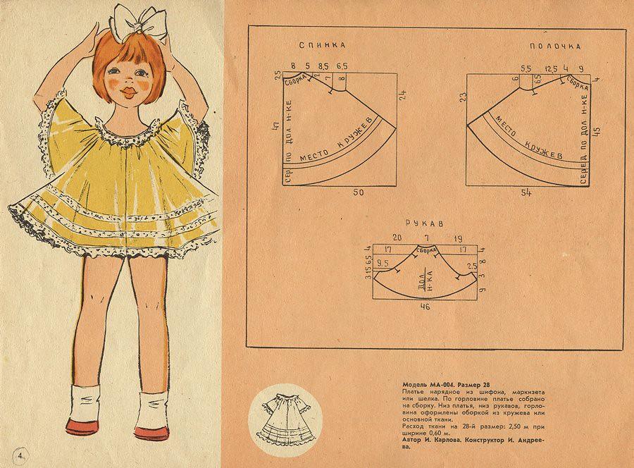 Шьем платье своими руками выкройки для девочки