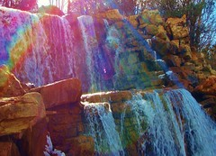 sun pyramid (spysgrandson) Tags: light sun sunlight reflection water river rainbow colorful texas stones sony cybershot falls boulders waterfalls wichitafalls wichita sonycybershot sundogs sunpyramid rainbowpyramid spysgrandson