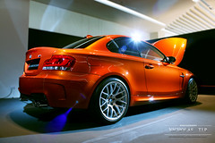 Bmw 1M Coupe (Nicholas TJ.R) Tags: new orange canon nicholas bmw coupe 1m preview 500d singaopore tjr