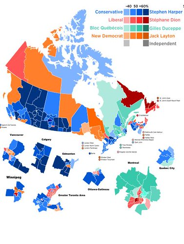 Results of 2008 federal election, Canada