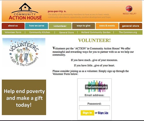 Community Action House Volunteer Page