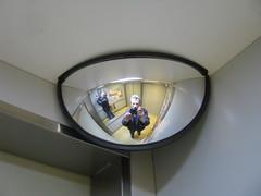 Alone in elevator? (streamer020nl) Tags: camera canon ed mirror alone lift elevator double fahrstuhl dubbel 2014 spiege 270314 27march2014