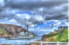 Hull 66 Headed out to sea (Ross A Craig) Tags: stjohnsnewfoundland canadian navy united states hmcs fredericton athabaskan signal hill