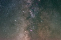 An Iridium Flare Into The Galactic Core (Christophe_A) Tags: astrophotography milkyway core nebula mars longexposure vixen polarie star tracker 85mm nikon d800 chelmos mountain greece christophe christopheanagnostopoulos iridium flare astrometrydotnet:id=nova1751337 astrometrydotnet:status=solved
